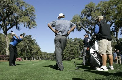 J.J. Henry during a practice round for THE PLAYERS Championship held at the TPC Stadium Course in Ponte Vedra Beach, Florida on Wednesday, March 22, 2006.Photo by Michael Cohen/WireImage.com