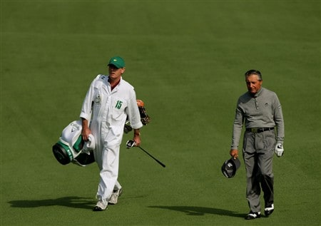 AUGUSTA, GA - APRIL 10:  Gary Player of South Africa walks with his caddie Dave King during the first round of the 2008 Masters Tournament at Augusta National Golf Club on April 10, 2008 in Augusta, Georgia.  (Photo by Harry How/Getty Images)