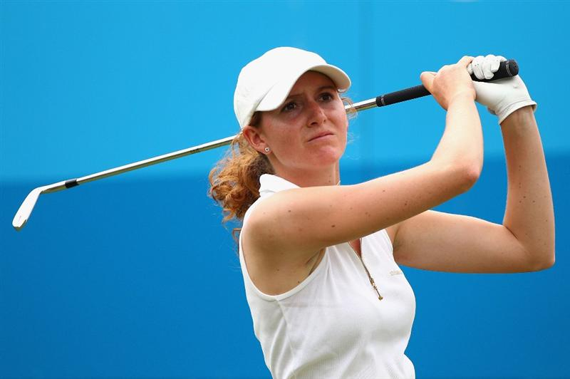 GOLD COAST, AUSTRALIA - MARCH 05:  Florentyna Parker of England plays a tee shot on the 16th hole during round two of the 2010 ANZ Ladies Masters at Royal Pines Resort on March 5, 2010 in Gold Coast, Australia.  (Photo by Ryan Pierse/Getty Images)