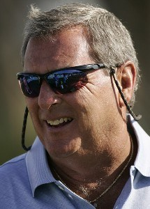 Fuzzy Zoeller during the second round of the Allianz Championship held at The Old Course at Broken Sound Club in Boca Raton, Florida, on February 10, 2007. Champions Tour - 2007 Allianz Championship - Second RoundPhoto by Sam Greenwood/WireImage.com