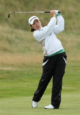 LYTHAM ST ANNES, ENGLAND - JULY 28:  In-Kyung Kim of South Korea hits an approach shot during the Pro-Am prior to the 2009 Ricoh Women's British Open Championship held at Royal Lytham St Annes Golf Club, on July 28, 2009 in  Lytham St Annes, England.  (Photo by David Cannon/Getty Images)