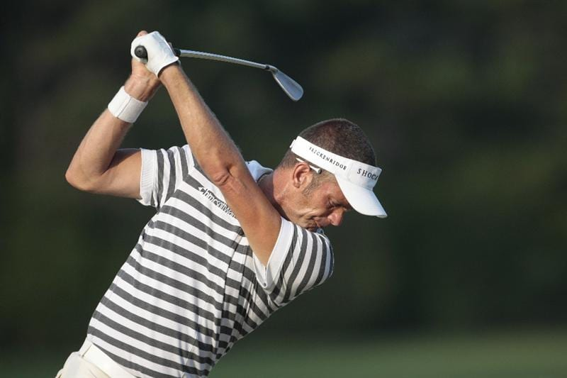 MADISON, MS - SEPTEMBER 18:  Jesper Parnevik of Sweden hits to the 11th green during first round play in the Viking Classic at the Annandale Golf Club on September 18, 2008 in  Madison, Mississippi.  (Photo by Dave Martin/Getty Images)