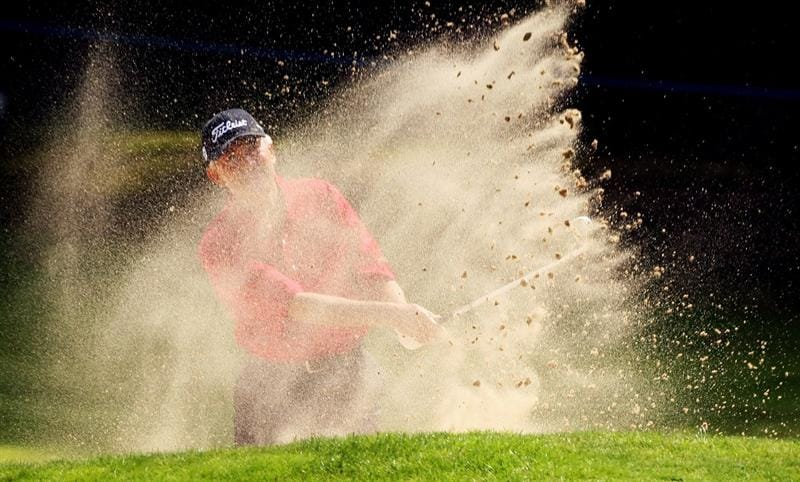 SUNNINGDALE, ENGLAND - JULY 25:  Morris Hatalsky of the USA plays out of the second greenside bunker during the third round of The Senior Open Championship presented by MasterCard held on the Old Course at Sunningdale Golf Club on July 25, 2009 in Sunningdale, England.  (Photo by Warren Little/Getty Images)