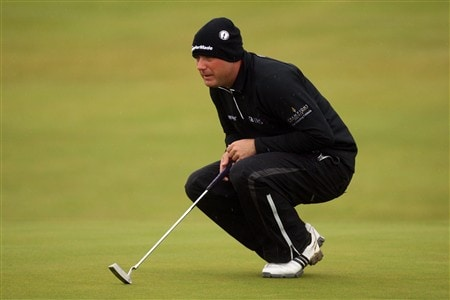 SOUTHPORT, UNITED KINGDOM - JULY 17:  Graeme Storm of England lines up a putt during the First Round of the 137th Open Championship on July 17, 2008 at Royal Birkdale Golf Club, Southport, England.  (Photo by Ross Kinnaird/Getty Images)