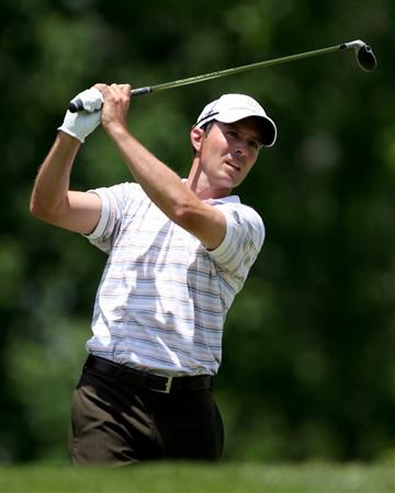 DUBLIN, OH - JUNE 06:  Mike Weir of Canada hits his tee shot on the third hole during the third round of the Memorial Tournament on June 6, 2009 at the Muirfield Village Golf Club in Dublin, Ohio.  (Photo by Andy Lyons/Getty Images)
