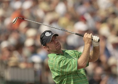 Rod Pampling during the second round of the 135th Open Championship at Royal Liverpool Golf Club in Hoylake, Great Britain on July 21, 2006.Photo by Pete Fontaine/WireImage.com
