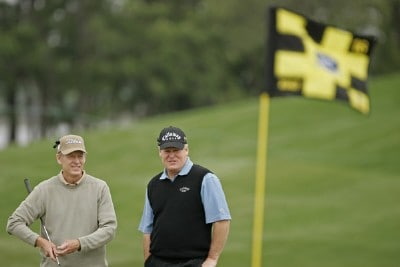 Mike Ried and Johnny Miller during the first round of the Raphael and Legends Division at the Liberty Mutual Legends of Golf held at Westin Savannah Harbor Golf Resort & Spa in Savannah, Georgia, on April 20, 2007. Photo by: Chris Condon/PGA TOURPhoto by: Chris Condon/PGA TOUR