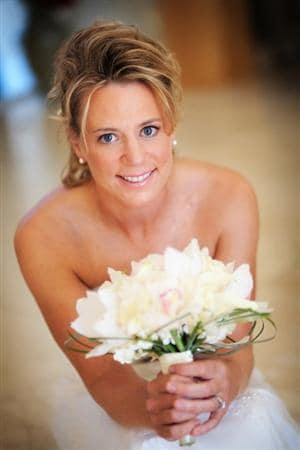 ORLANDO - JANUARY 10: (NO SALES) In this photo provided by Lena Hyde Photography, LPGA golfer Annika Sorenstam poses on her wedding day January 10, 2009 near their home in Orlando, Florida.  Sorenstam married Mike McGee today.  (Photo by Lena Hyde Photography via Getty Images)