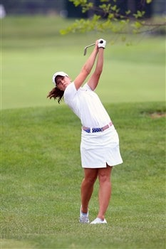 ROGERS, AR - JULY 4:  Paige Mackenzie hits an approach shot during the first round of the P&G Beauty NW Arkansas Championship presented by John Q. Hammons on July 4, 2008 at Pinnacle Country Club in Rogers, Arkansas. (Photo by G. Newman Lowrance/Getty Images)