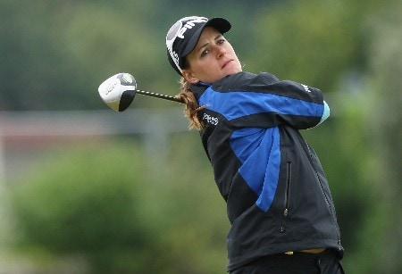 ST ANDREWS, UNITED KINGDOM - AUGUST 01:  Paula Marti of Spain tees off on the 18th hole during the Pro-Am prior to the 2007 Ricoh Women's British Open held on the Old Course at St Andrews on August 1, 2007 in St Andrews, Scotland. (Photo by David Cannon/Getty Images)