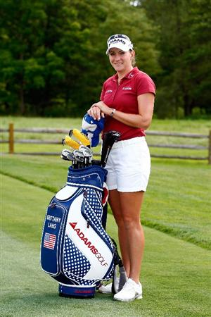 BETHLEHEM, PA - JULY 08:  Brittany Lang poses on the practcice ground during a practice round prior to the start of thw 2008 U.S. Women's Open at the Saucon Valley Country Club on July 8, 2009 in Bethlehem, Pennsylvania.  (Photo by Scott Halleran/Getty Images)
