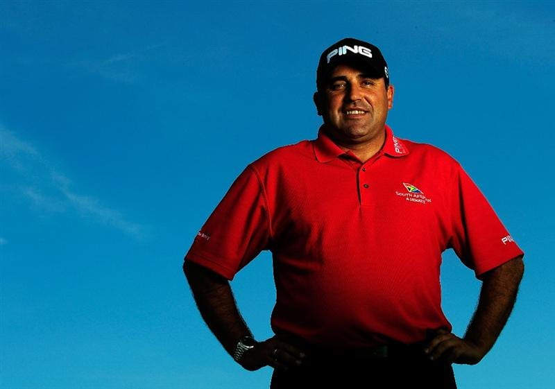 AKRON, OH - AUGUST 04:  Angel Cabrera of Argentina poses for a portrait prior to the WGC-Bridgestone Invitational on the South Course at Firestone Country Club on August 4, 2009 in Akron, Ohio.  (Photo by Sam Greenwood/Getty Images)