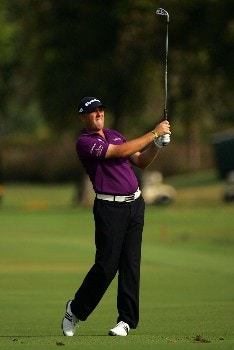 MIAMI - MARCH 23:  Graeme Storm of England plays the 18th hole during the completion of the third round of the World Golf Championships CA Championship at the Doral Golf Resort & Spa on March 23, 2008 in Miami, Florida.  (Photo by Sam Greenwood/Getty Images)