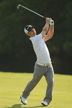 PONTE VEDRA BEACH, FL - MAY 07:  Richard S. Johnson of Sweden hits his second shot on the 14th hole during the first round of THE PLAYERS Championship on THE PLAYERS Stadium Course at TPC Sawgrass on May 7, 2009 in Ponte Vedra Beach, Florida.  (Photo by Jamie Squire/Getty Images)