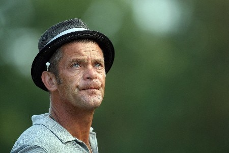 LAKE BUENA VISTA, FL - NOVEMBER 02:  Jesper Parnevik of Sweden waits to tee off at the 11th hole on the Palm Course during the second round of The Childrens Miracle Network Classic held on the Palm and Magnolia Courses at The Disney Shades of Green Resort, on November 2, 2007 in Lake Buena Vista, Florida.  (Photo by David Cannon/Getty Images)