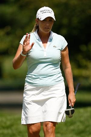 BETHLEHEM, PA - JULY 12:  Cristie Kerr reacts after a putt for par during the final round of the 2009 U.S. Women's Open at Saucon Valley Country Club on July 12, 2009 in Bethlehem, Pennsylvania.  (Photo by Chris Graythen/Getty Images)