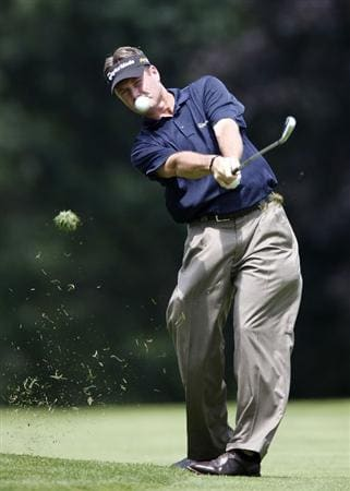 GRAND BLANC, MI - JULY 30: Todd Hamilton hits his second shot on the fourth hole during the first round of the Buick Open at Warwick Hills Golf and Country Club on July 30, 2009 in Grand Blanc, Michigan.  (Photo by Gregory Shamus/Getty Images)