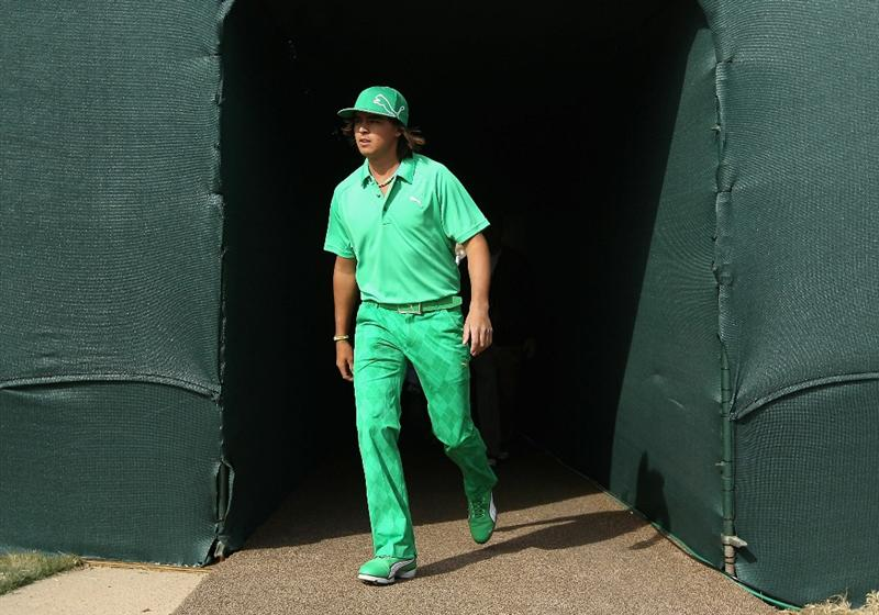 SCOTTSDALE, AZ - FEBRUARY 05:  Rickie Fowler walks through the tunnel onto the 16th hole during the second round of the Waste Management Phoenix Open at TPC Scottsdale on February 5, 2011 in Scottsdale, Arizona.  (Photo by Christian Petersen/Getty Images)