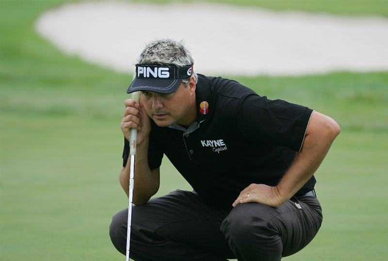SILVIS, IL - JULY 09:  Daniel Chopra of Sweden during the first round of the John Deere Classic at TPC Deere Run held on July 9, 2009 in Silvis, Illinois.  (Photo by Michael Cohen/Getty Images)