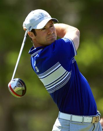 ORLANDO, FL - MARCH 23:  Trevor Immelman of South Africa and the Lake Nona Team watches his tee shot on the 3rd hole during the second day's play in the 2010 Tavistock Cup, at the Isleworth Golf and Country Club on March 23, 2010 in Orlando, Florida.  (Photo by David Cannon/Getty Images)