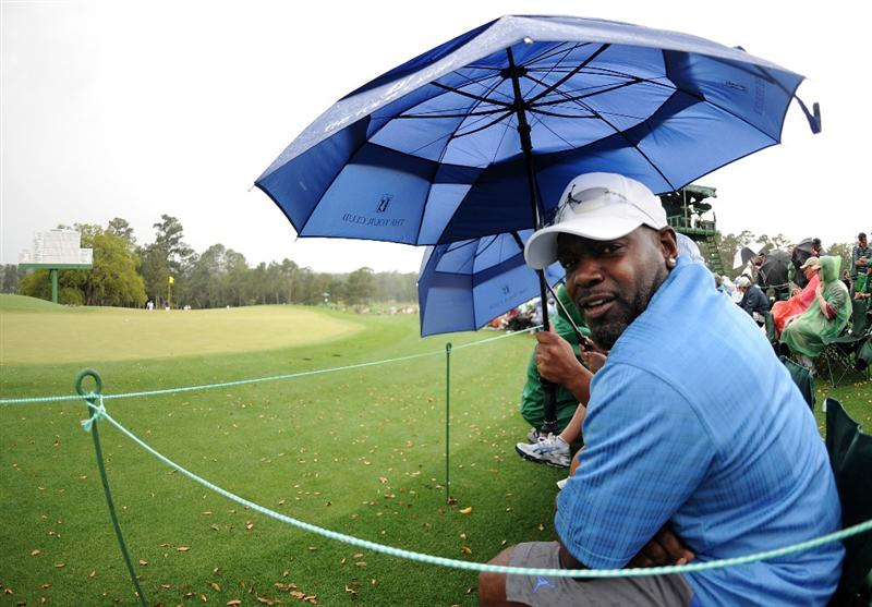 AUGUSTA, GA - APRIL 08:  NFL legend Emmitt Smith watches the play during the first round of the 2010 Masters Tournament at Augusta National Golf Club on April 8, 2010 in Augusta, Georgia.  (Photo by Harry How/Getty Images)