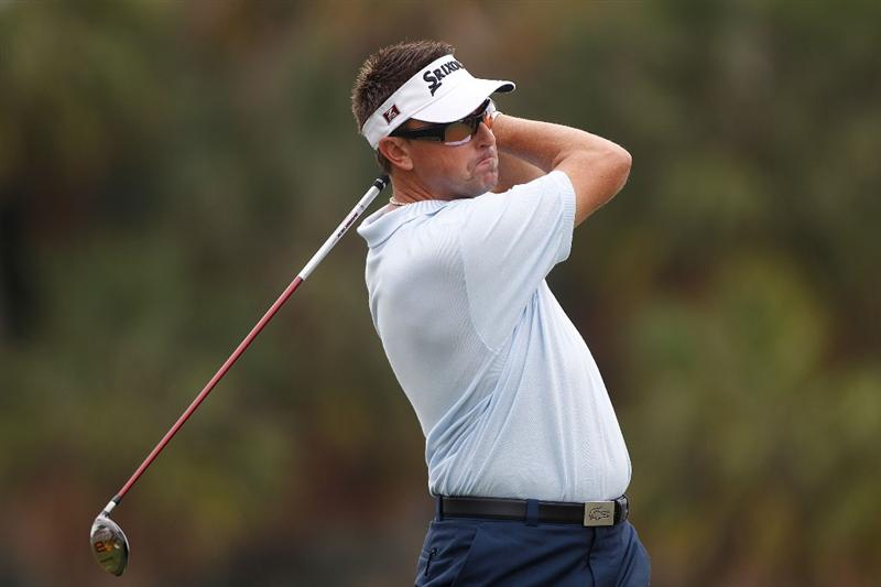 DORAL, FL - MARCH 12:  Robert Allenby of Australia plays a shot on the 14th hole during round two of the 2010 WGC-CA Championship at the TPC Blue Monster at Doral on March 12, 2010 in Doral, Florida.  (Photo by Scott Halleran/Getty Images)