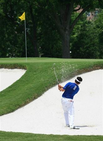 FORT WORTH, TX - MAY 21: Charlie Wi hits his second shot on the fourth hole during the third round of the Crowne Plaza Invitational at Colonial Country Club on May 21, 2011 in Fort Worth, Texas. (Photo by Hunter Martin/Getty Images)