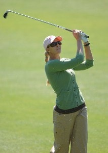 Jill McGill in action during the second round of the LPGA's 2006 Michelob ULTRA Open at Kingsmill, at the Kingsmill Resort and Spa River Course in Williamsburg, Virginia on May 12, 2006.Photo by Steve Grayson/WireImage.com