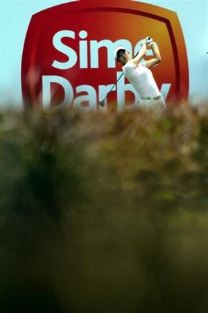 KUALA LUMPUR, MALAYSIA - OCTOBER 23 : Michelle Wie of USA tees off on the 8th hole during Round Two of the Sime Darby LPGA on October 23, 2010 at the Kuala Lumpur Golf and Country Club in Kuala Lumpur, Malaysia. (Photo by Stanley Chou/Getty Images)