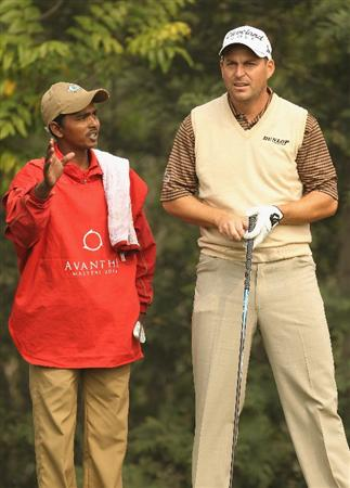 NEW DELHI, INDIA - FEBRUARY 10:  David Howell of England looks down the 15th hole during the Pro-AM of the Avantha Masters held at The DLF Golf and Country Club on February 10, 2010 in New Delhi, India.  (Photo by Ian Walton/Getty Images)