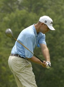 Bill Haas during the first round of the U.S. Bank Championship in Milwaukee at Brown Deer Park Golf Course in Milwaukee, Wisconsin, on July 27, 2006.Photo by Steve Levin/WireImage.com