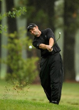 JOHANNESBURG, SOUTH AFRICA - JANUARY 11:  Sion E Bebb of Wales plays from the rough on the 15th hole on the East Course during the second round of the Joburg Open 2008 at Royal Johannesburg & Kensington Golf Club on January 11, 2008 in Johannesburg, South Africa.  (Photo by Richard Heathcote/Getty Images)