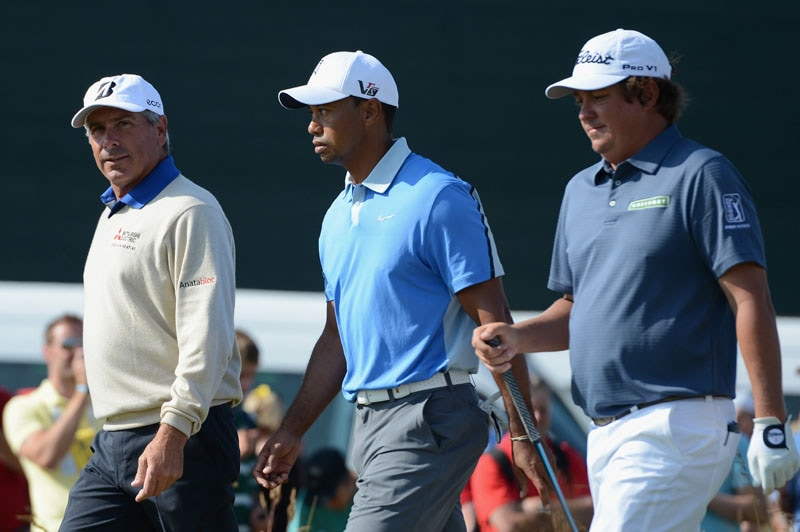 Fred Couples, Tiger Woods and Jason Dufner