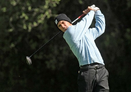 PACIFIC PALISADES, CA - FEBRUARY 14:  Defending champion Charles Howell III hits his tee shot on the 12th hole during the first round of the Northern Trust Open on February 14, 2008 at Riviera Country Club in Pacific Palisades. California.  (Photo by Stephen Dunn/Getty Images)