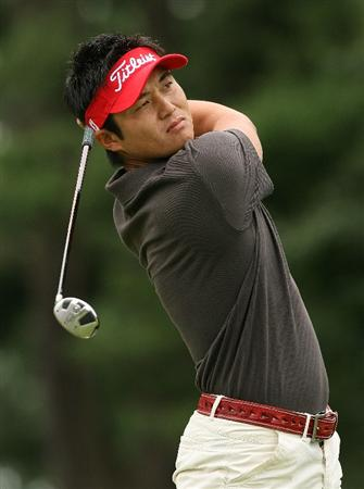 BETHESDA, MD - JULY 05:  Ryuji Imada of Japan watches his tee shot on the second hole during the final round of the AT&T National at the Congressional Country Club on July 5, 2009 in Bethesda, Maryland.  (Photo by Hunter Martin/Getty Images)