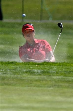 DANVILLE, CA - OCTOBER 9: Shanshan Feng of China chips out of a bunker on the 8th hole during the first round of the LPGA Longs Drugs Challenge at the Blackhawk Country Club October 9, 2008 in Danville, California. (Photo by Max Morse/Getty Images)