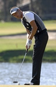 Jesper Parnevik putts on the 13th green during the first round of the 2006 Chrysler Championship Oct. 26 in Palm Harbor, Fl. PGA TOUR - 2006 Chrysler Championship - First RoundPhoto by Al Messerschmidt/WireImage.com