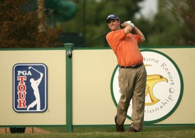 Charles Warren hits his tee shot on the 13th hole during the third round of the Turning Stone Resort Championship at Atunyote Golf Club September 22, 2007 in Verona, New York. PGA TOUR - 2007 Turning Stone Resort Championship - Third RoundPhoto by Mike Ehrmann/WireImage.com