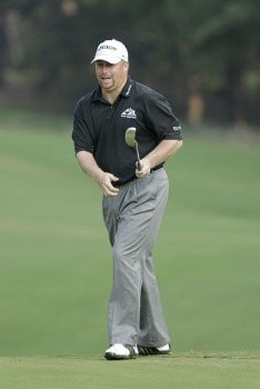 John Rollins in action during the first round of the Chrysler Classic of Greensboro at Forest Oaks Country Club in Greensboro, North Carolina on September 29, 2005.Photo by Michael Cohen/WireImage.com
