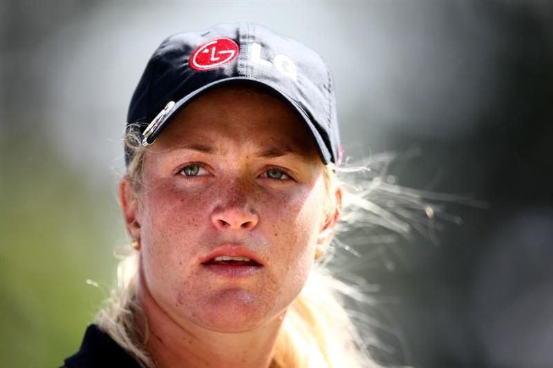 KAPALUA, HI - OCTOBER 18: Suzann Pettersen of Norway  looks on  during the third round of the Kapalua LPGA Classic on October 18, 2008 at the Bay Course in Kapalua, Maui, Hawaii. (Photo by Donald Miralle/Getty Images)