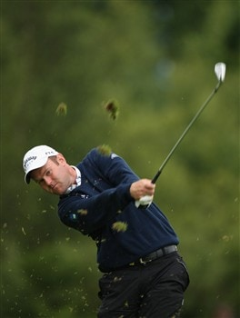 LUSS, UNITED KINGDOM - JULY 10:  Alastair Forsyth of Scotland hits an iron shot during the First Round of The Barclays Scottish Open at Loch Lomond Golf Club on July 10, 2008 in Luss, Scotland.  (Photo by Warren Little/Getty Images)