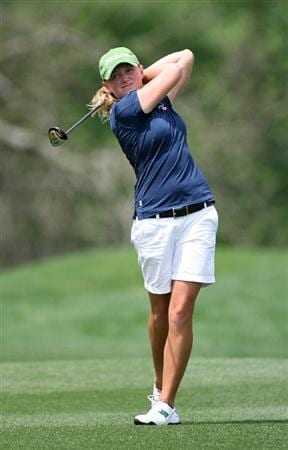 WILLIAMSBURG, VA - MAY 8 : Stacy Lewis hits her second shot on the 15th hole during the second round of the Michelob Ultra Open at Kingsmill Resort on May 8, 2009 in Williamsburg, Virgina. (Photo by Hunter Martin/Getty Images)