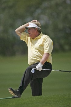 Andy Bean narrowly misses a chip on #13 chips to the 13th green during the second round of the 2005 Libery Mutual Legends of Golf.  Saturday 04/22/2005Photo by Chris Condon/PGA TOUR/WireImage.com