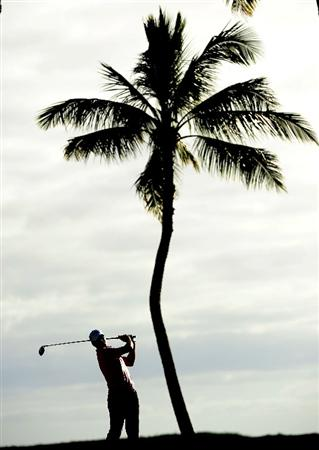 HONOLULU,HI - JANUARY 16:  Robert Allenby of Australia plays a shot on the 14th hole during the third round of the Sony Open at Waialae Country Club on January 16, 2010 in Honolulu, Hawaii.  (Photo by Sam Greenwood/Getty Images)