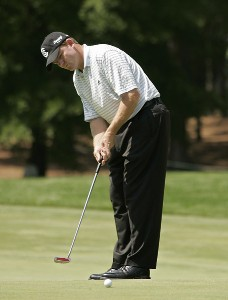 Shaun Micheel during the third round of the 2006 Wachovia Championship at the Quail Hollow Club in Charlotte, North Carolina on May 6, 2006. Photo by Chris Condon/PGA TOURPhoto by Chris Condon/PGA TOUR