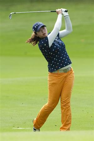 CHON BURI, THAILAND - FEBRUARY 17:  Shanshan Feng of China plays her second shot on the 15th hole during day one of the LPGA Thailand at Siam Country Club on February 17, 2011 in Chon Buri, Thailand.  (Photo by Victor Fraile/Getty Images)