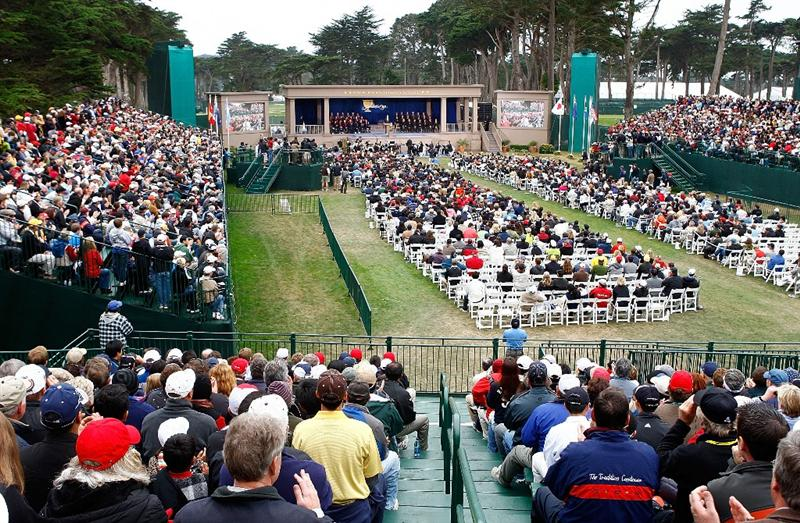 SAN FRANCISCO - OCTOBER 11:  A general-view of the closing ceremonies after the USA defeated the International Team 19.5 to 14.5 to win The Presidents Cup at Harding Park Golf Course on October 11, 2009 in San Francisco, California.  (Photo by Scott Halleran/Getty Images)