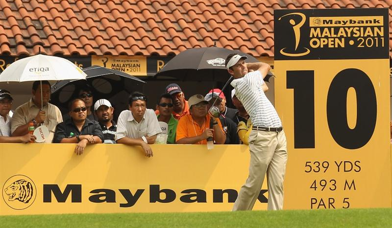 KUALA LUMPUR, MALAYSIA - APRIL 15:  Charl Schwartzel of South Africa in action during the second round of the Maybank Malaysian Open at Kuala Lumpur Golf & Country Club on April 15, 2011 in Kuala Lumpur, Malaysia.  (Photo by Ian Walton/Getty Images)
