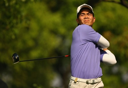 SHANGHAI, CHINA - APRIL 25:  Wen-Chong Liang of China in action during the 2nd round of the BMW Asian Open at the Tomson Shanghai Pudong Golf Club on April 25, 2008 in Shanghai, China.  (Photo by Ian Walton/Getty Images)