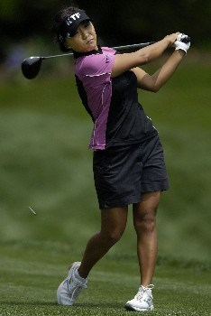 WILLIAMSBURG, VA - MAY 10:  Mi Hyun Kim of South Korea hits her tee shot on the 15th hole in Round 1 of the LPGA of the LPGA Michelob Ultra Open at Kingsmill May 10, 2007, in Williamsburg, Virginia.  (Photo by Jonathan Ernst/Getty Images)